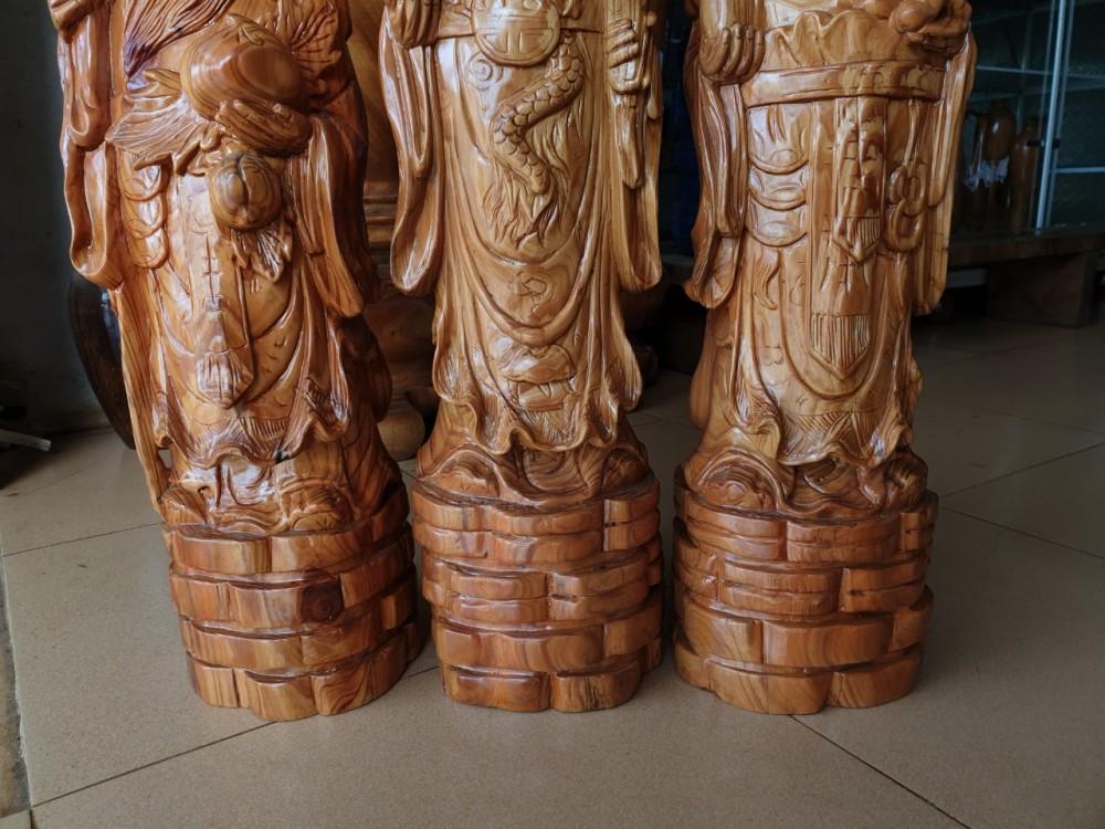 tam đa gỗ thủy tùng đỏ cao 60 cm