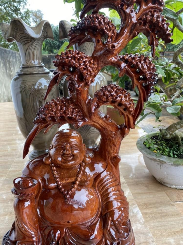 Tượng di lặc gỗ hương daklak cao 85cm