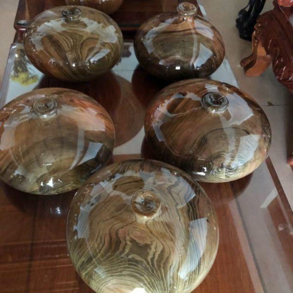 Bình phú quý gỗ thủy tùng đa sắc