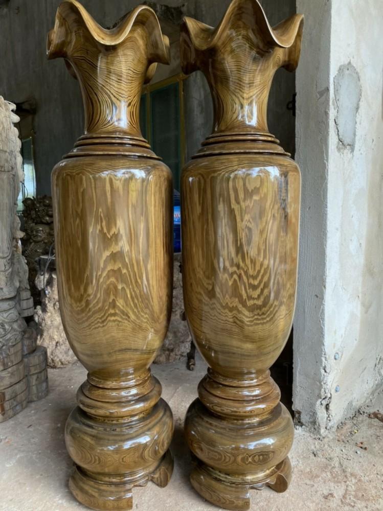 lục bình gỗ thủy tùng 138-38 cm