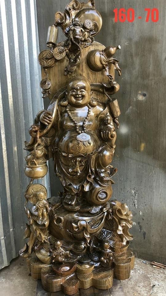 tượng di lặc gỗ thủy tùng